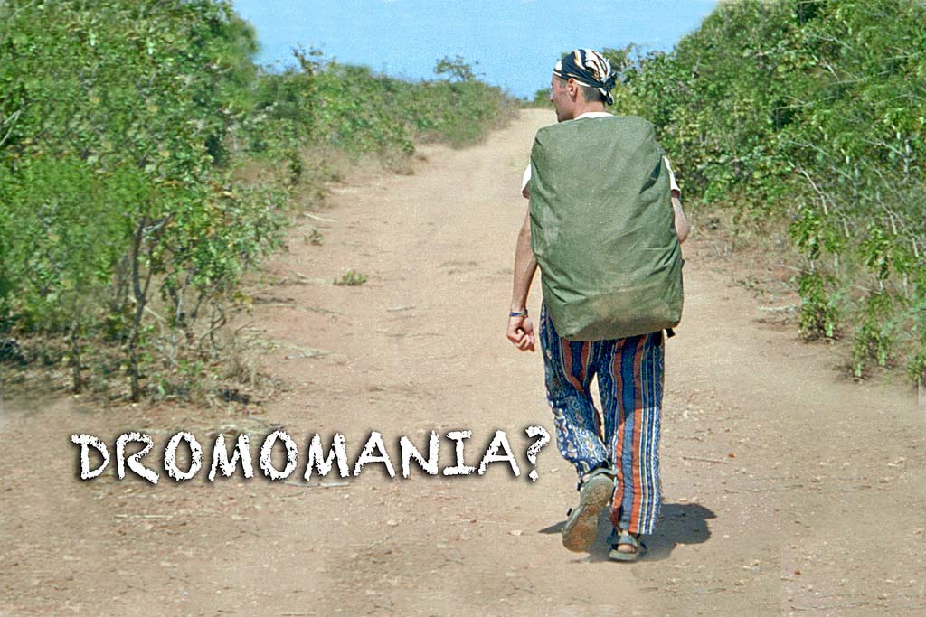 An image of myself walking between borders in Eastern Africa