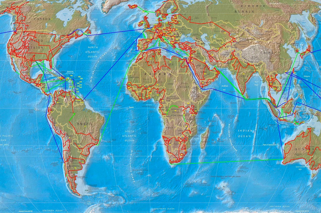 Map of the Schmids record journey